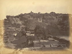 General view of old fort and temples, Badami, Bijapur District 10003340